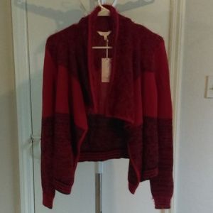 Candie's Small Cropped Waterfall Cozy Cardigan-NWT